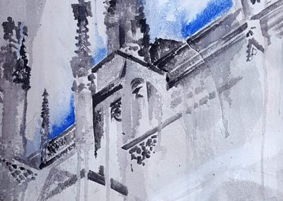Ultramarine blue Bern cathedral