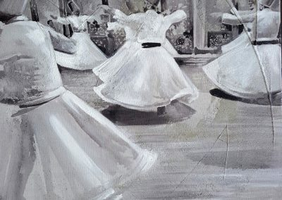 Swirling dervishes